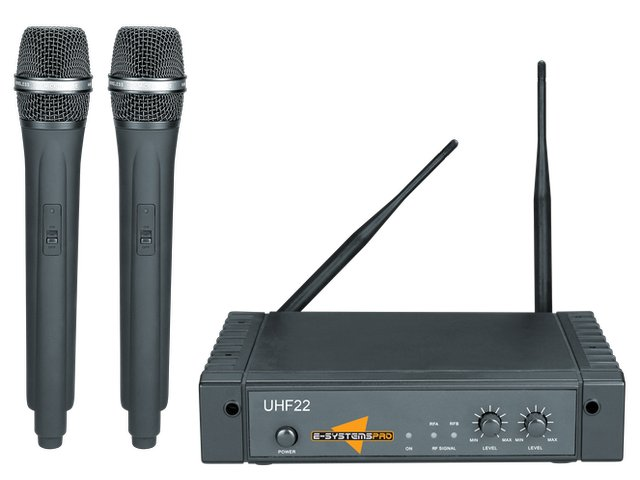 UHF22 Dual UHF wireless microphone system with 2 handheld microphones